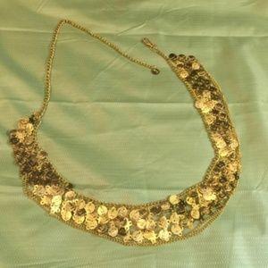 Belly Dance Coin Belt / Gold Coin Hip Chain